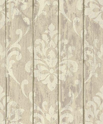 Tapete Vlies Ornament Holz Glitzer beige Rasch 625943 online kaufen