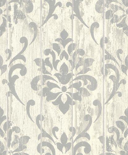 Tapete Vlies Ornament Holz Glitzer creme Rasch 625950 online kaufen