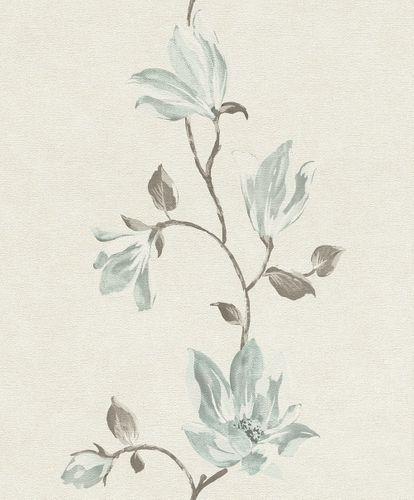 Tapete Vlies Blüten Floral creme blau Rasch 707236 online kaufen