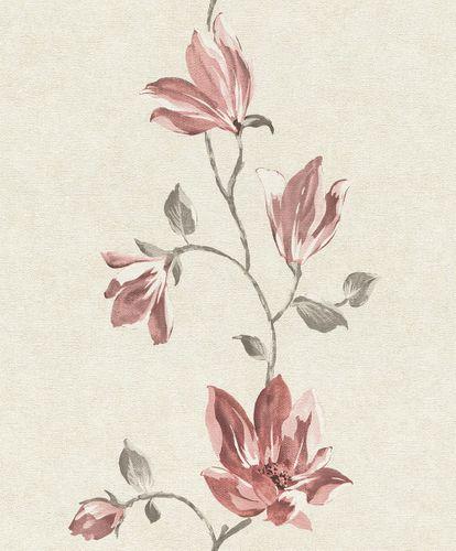 Tapete Vlies Blüten Floral beige rot Rasch 707250
