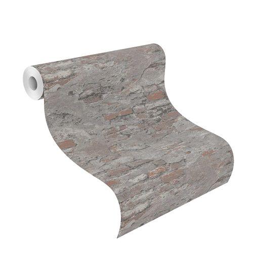 Tapete Vlies Rasch Putz Vintage rotbraun grau 625530 online kaufen