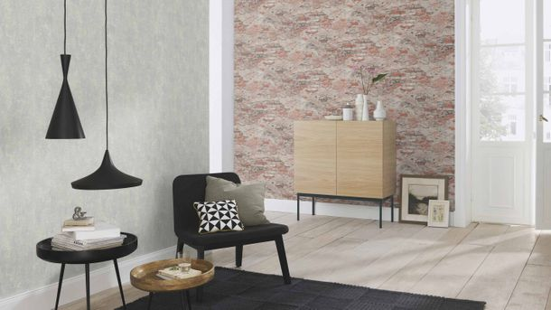 Non-woven wallpaper Rasch plaster used red brown 625554 online kaufen