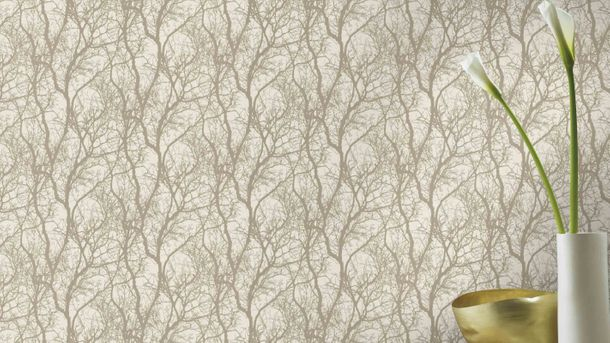 Non-woven wallpaper Rasch tree branch cream white 633245 online kaufen