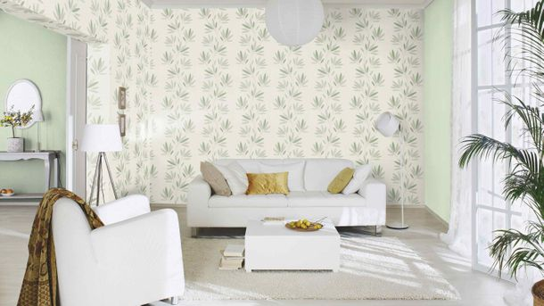 Non-woven wallpaper Rasch flower retro white 808735 online kaufen