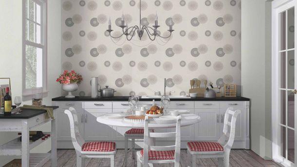 Non-woven wallpaper Rasch flower ornament grey 808810 online kaufen
