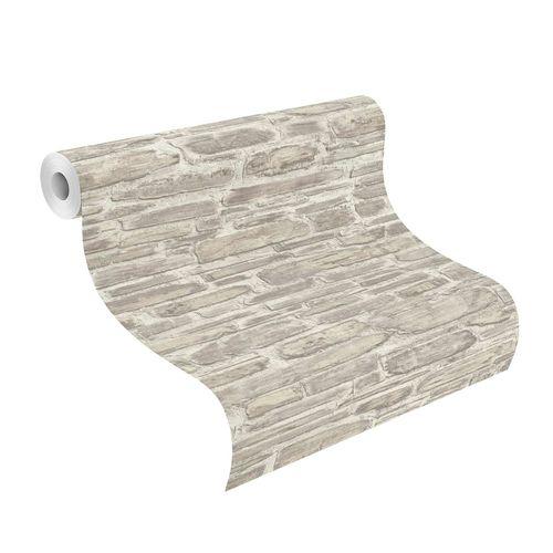 Non-woven wallpaper Rasch stone wall beige cream 863413 online kaufen