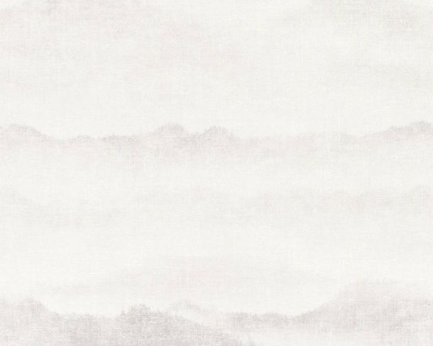 Non-Woven Wallpaper Plain Vintage white grey 36714-1