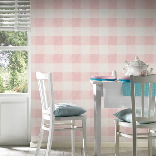 Non-Woven Wallpaper Squares pink 36715-2 online kaufen