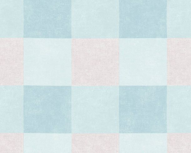 Non-Woven Wallpaper Squares light blue grey 36715-3