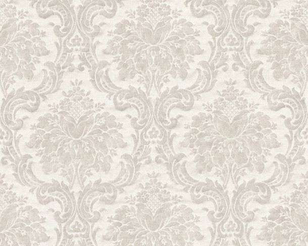 Non-Woven Wallpaper Baroque light grey 36716-1