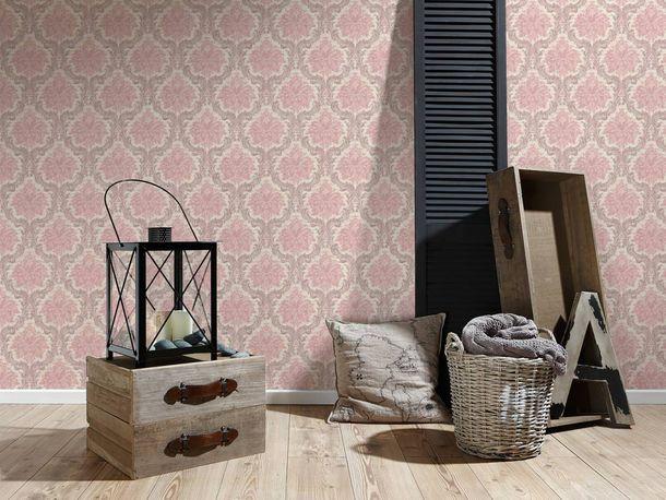 Tapete Vlies Barock Ornament creme rosa 36716-2 online kaufen