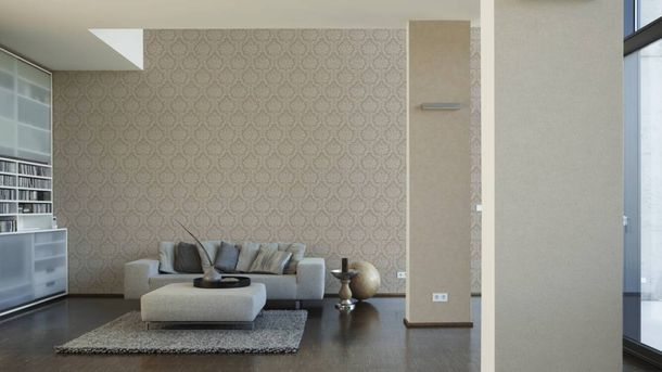 Non-Woven Wallpaper Baroque brown grey 36716-3 online kaufen