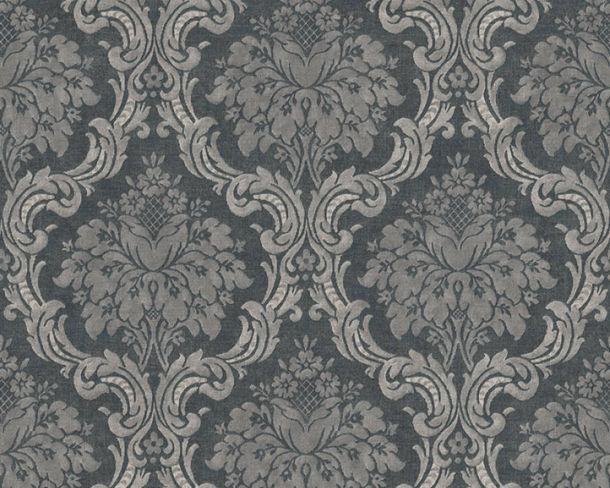 Non-Woven Wallpaper Baroque anthracite grey 36716-6