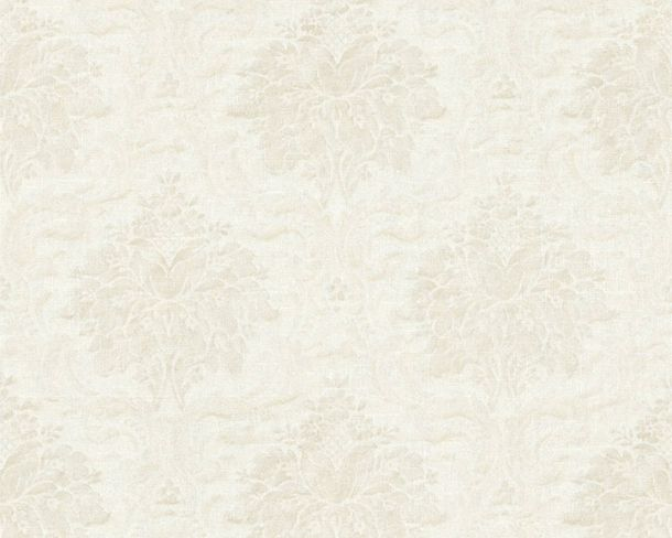 Non-Woven Wallpaper Baroque cream white cream 36716-8