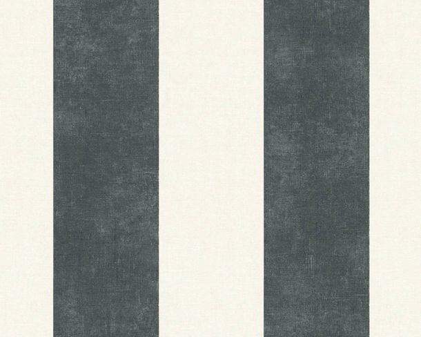 Non-Woven Wallpaper Stripes anthracite white 36718-1