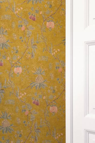 Non-Woven Wallpaper Tree Baroque yellow green 36719-4 online kaufen