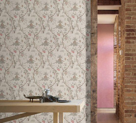 Non-Woven Wallpaper Plain Baroque pink 36720-8 online kaufen