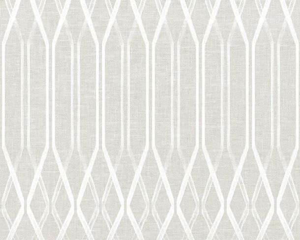 Non-woven Wallpaper Retro light grey Linen Style 36632-1