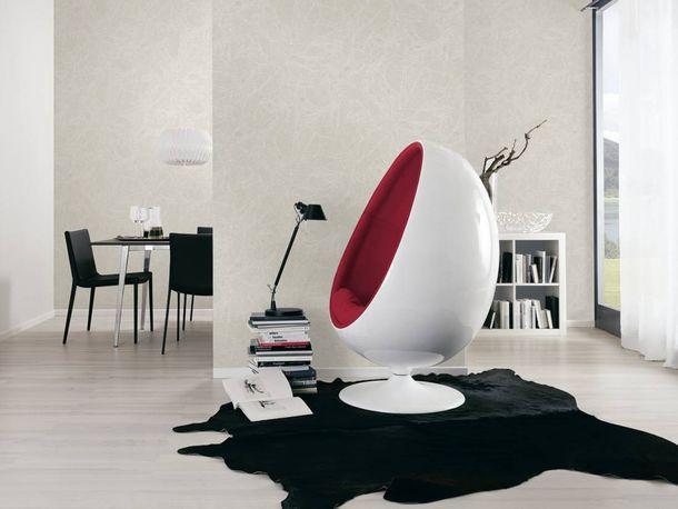 Non-woven Wallpaper Leaves white Linen Style 36633-1 online kaufen