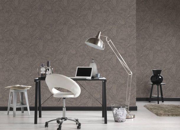 Non-woven Wallpaper Leaves black Linen Style 36633-4 online kaufen