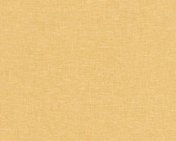 Non-woven Wallpaper Linen yellow Linen Style 36634-5