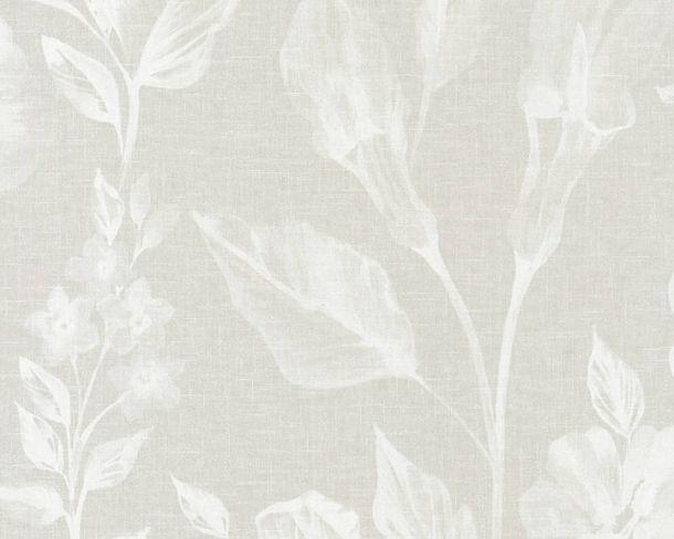 Tapete Vlies Floral Leinen hellgrau Linen Style 36636-3 online kaufen