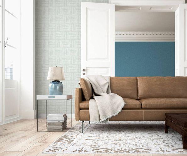 Non-woven Wallpaper Tiles turquoise Linen Style 36637-3 online kaufen