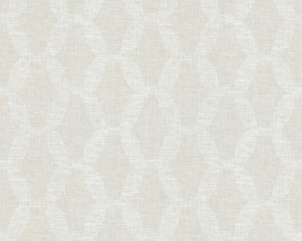 Non-woven Wallpaper Chains light grey Linen Style 36638-2 buy online