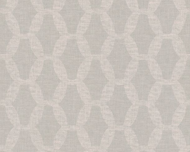 Non-woven Wallpaper Chains green pink Linen Style 36638-3