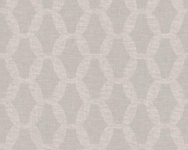 Tapete Vlies Ketten-Design grün rosa Linen Style 36638-3