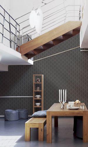 Tapete Vlies Ketten-Design grau Linen Style 36638-4 online kaufen