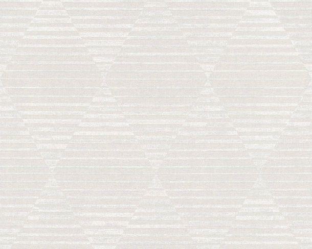 Non-woven Wallpaper Retro 3D white Linen Style 36757-1