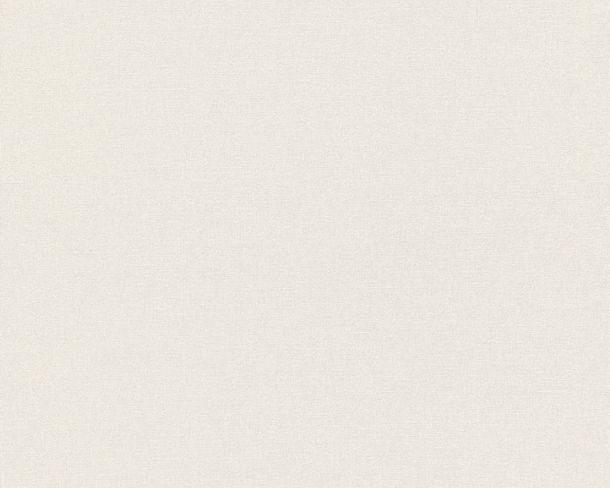 Non-woven Wallpaper Plain white Linen Style 36761-1