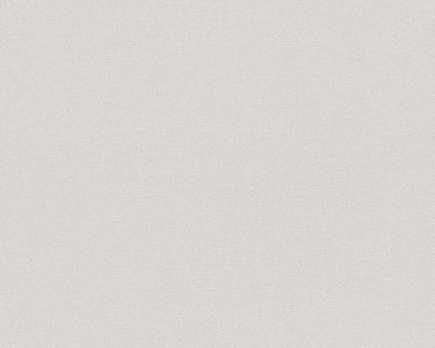 Tapete Vlies Einfarbig hellgrau Linen Style 36761-2