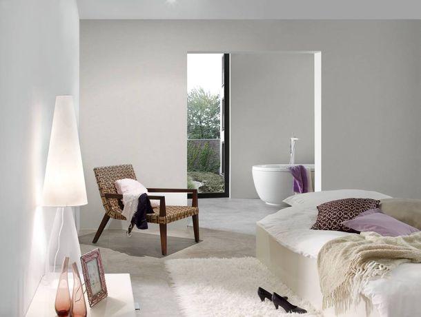 Non-woven Wallpaper Plain light grey Linen Style 36761-2 online kaufen