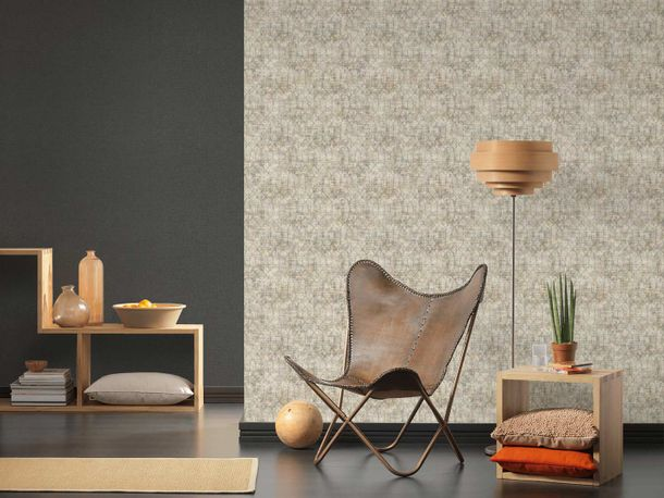 Non-Woven Wallpaper Vintage Graphical grey 36771-3 online kaufen