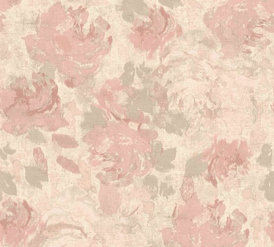 Non-Woven Wallpaper Floral Blossoms pink 36772-4