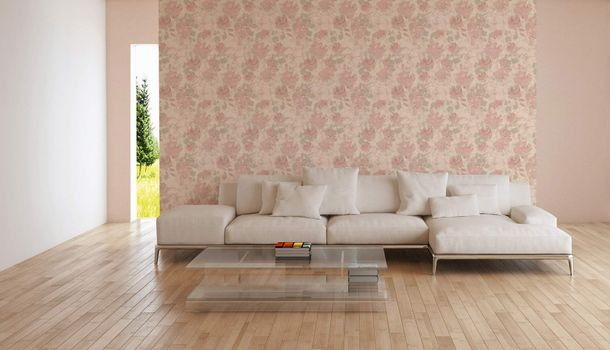 Non-Woven Wallpaper Floral Blossoms pink 36772-4 online kaufen