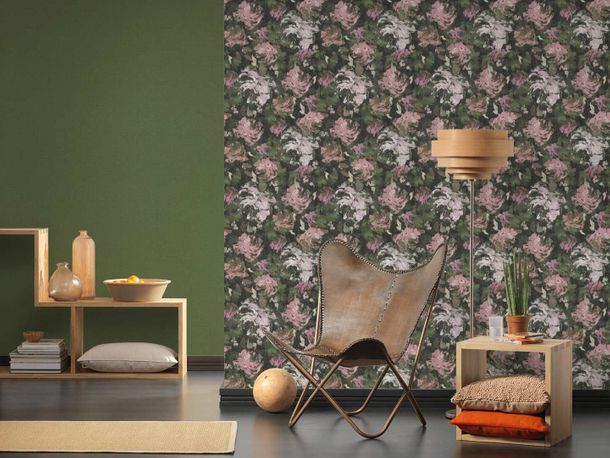 Non-Woven Wallpaper Floral Blossoms green 36772-6 online kaufen
