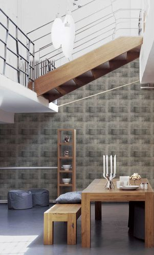 Non-Woven Wallpaper Tiles Used anthracite 36773-3 online kaufen