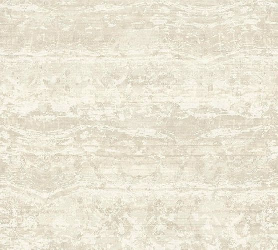 Non-Woven Wallpaper Stripes Used cream 36774-1