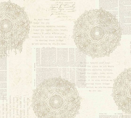 Non-Woven Wallpaper Mandala Ethno cream 36775-1