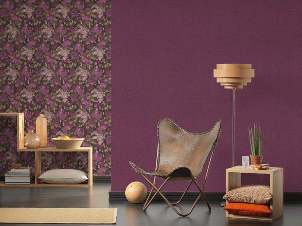 Non-Woven Wallpaper Plain Linen purple 36776-8 online kaufen