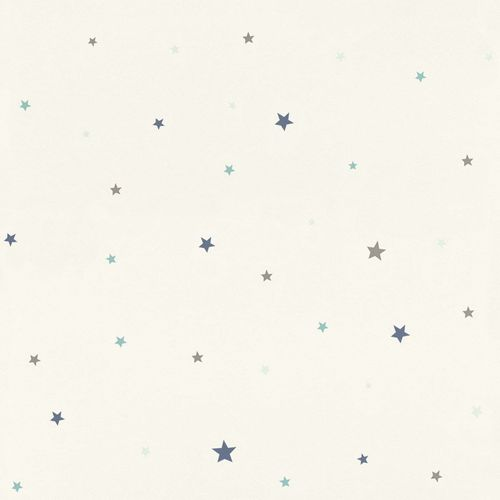 Kids Wallpaper Rasch stars white dark blue 245264 online kaufen