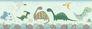 Kidsborder Rasch dinosaurs plants mint green 248852 001