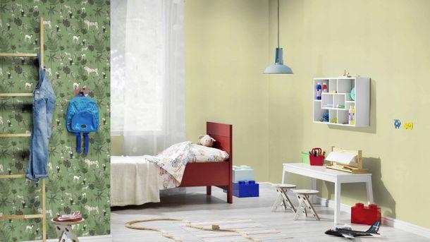 Kindertapete Rasch Uni Textil hellgrün 531435 online kaufen