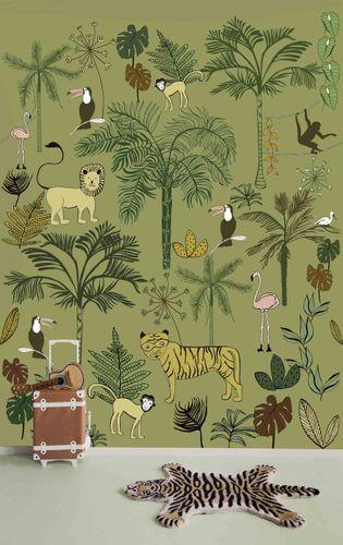Fototapete Kinder Rasch Tiere Dschungel grün gelb 842142 online kaufen