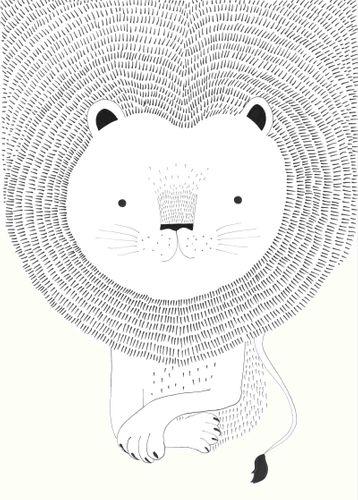 Fototapete Kinder Rasch Löwe Zeichnung weiß 842227 online kaufen