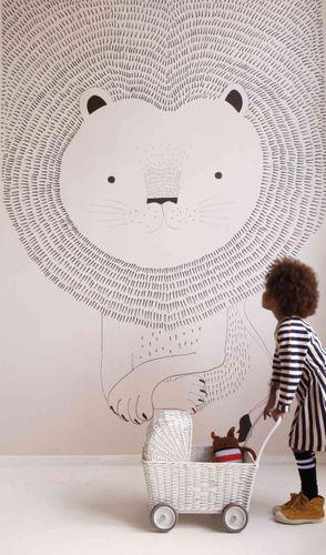 Mural Wallpaper Kids Rasch lion illustration rose 842272 online kaufen