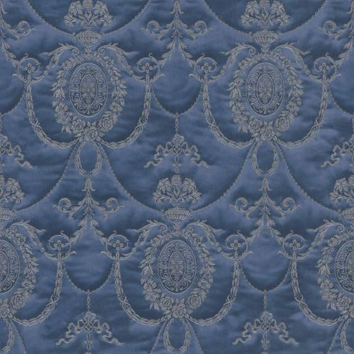 Satin Wallpaper Baroque blue gold Gloss Rasch 532159